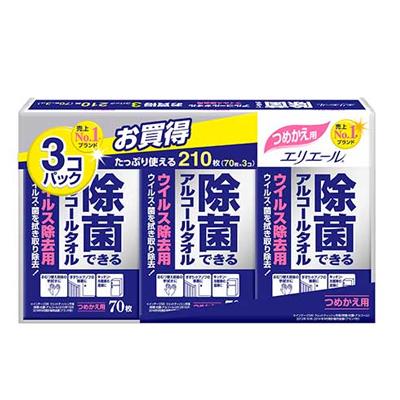 エリエール 除菌できるアルコールタオル ウイルス除去用 詰替用 大容量