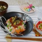 タンパク質&ビタミン強化の海鮮ちらし寿司