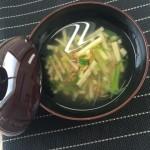 たけのこと桜海老のスープ