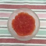 トマトとミルクの2層ゼリー