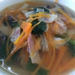 ほうれん草のコンソメ生姜スープ