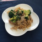 ブロッコリーと豚肉のピリ辛炒め